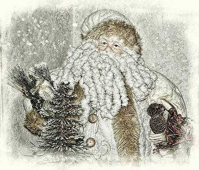 Vintage Santa In Soft Color by Toni Abdnour