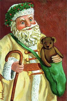 Vintage Santa by Linda Apple