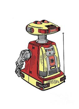 Vintage Toy Robot Tee by Edward Fielding