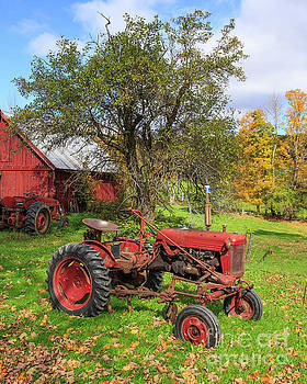 Vintage Tractor Red International Harvester F-Cub by Edward Fielding