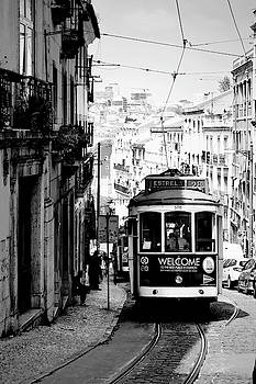 Vintage Tram in Lisbon Portugal 2 by Kathy Yates
