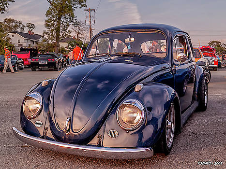 Vintage VW Beetle at Sunset by Ken Morris