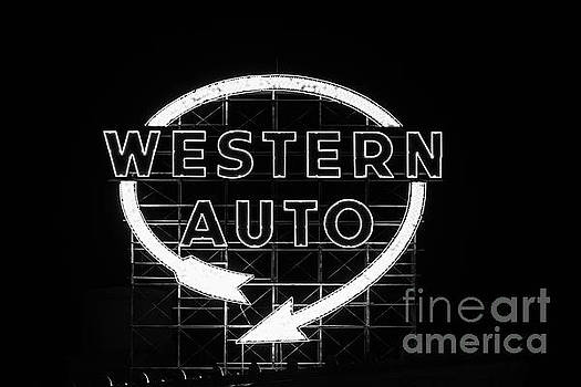 Vintage Western Auto Sign by Terri Morris