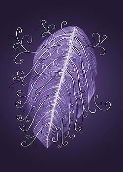 Violet leaf with swirls by Boriana Giormova
