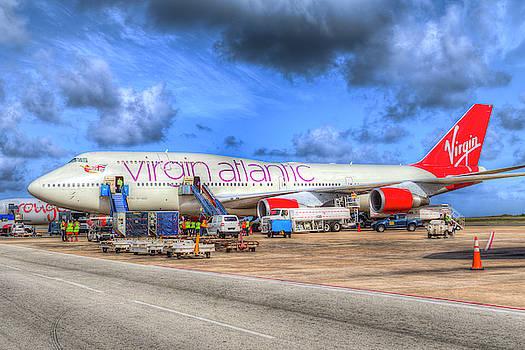 Virgin Atlantic Boeing 747 Barbados by David Pyatt