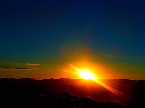Vivid Sunset In Golden Valley Arizona by James Welch