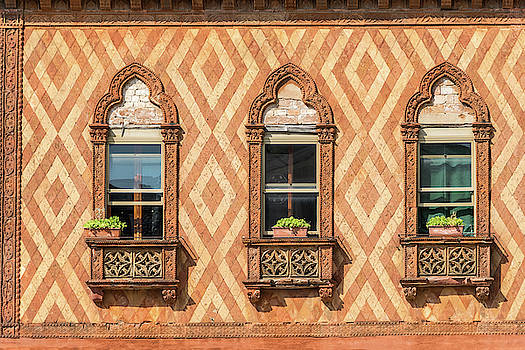 Vivid Venetian Accents - Three Fantabulous Byzantine Windows by Georgia Mizuleva