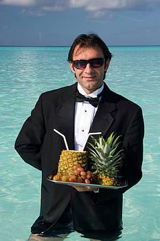 Waiter at the Beach by David Smith