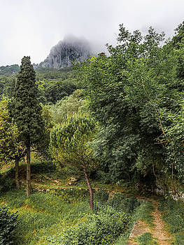 Walking along the mountain path by Giovanni Bertagna