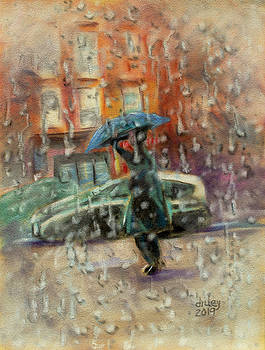 Walking in the Rain by Dorothy Riley