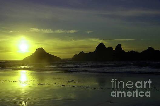 Walking the beach near sundown by Jeff Swan