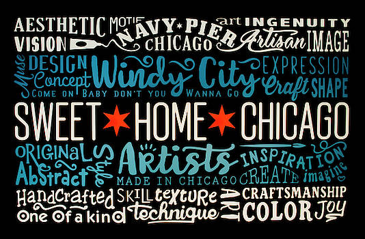 Wall art Chicago by Stuart Manning