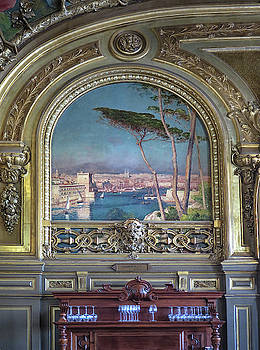 Wall Painting at Le Train Bleu by Dave Mills