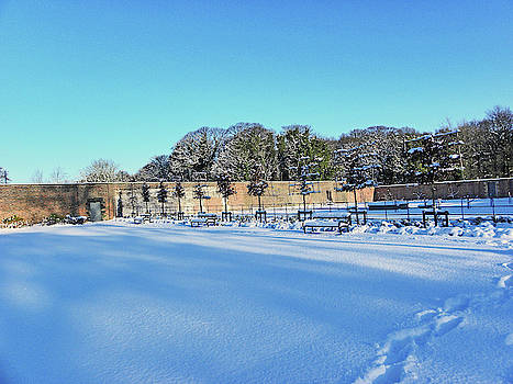 Walled Garden in The Snow by Lachlan Main