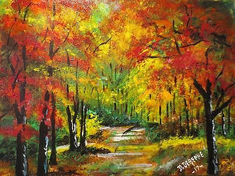Wampatuck State Park in Autumn by Dominique Derenne
