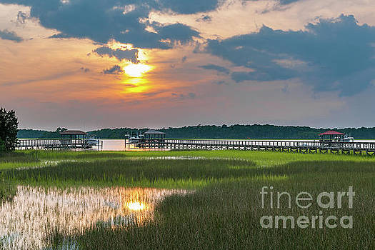 Wando River Sunset - Rivertowne on the Wando by Dale Powell