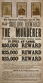 Daniel Hagerman - WANTED .... THE MURDERER of ABRAHAM LINCOLN 1865