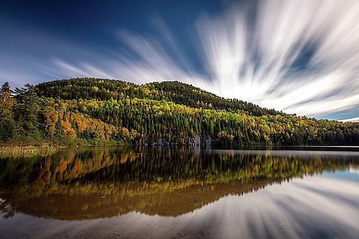 Wapizagonke lake reflection by Pierre Leclerc Photography