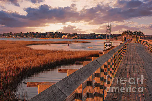 Warm Marsh Bay Sunrise by Dale Powell
