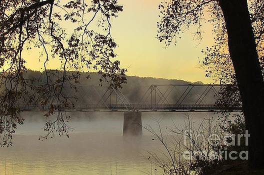 Warm Morning Light At Washington Crossing Bridge by Anne Ditmars