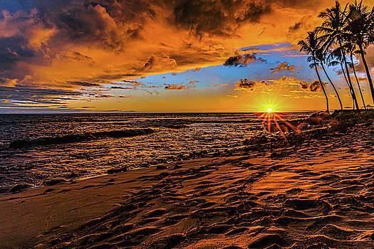 Warm Sunset at Honl's Beach by John Bauer