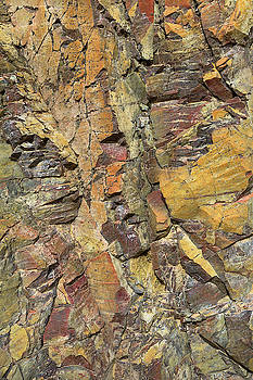 Warm Toned Rock Abstract by Alexander Kunz