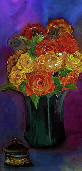 Warm Winter Rose Painting by Lisa Kaiser