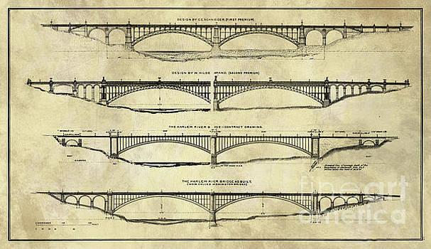 Tina Lavoie - Washington Bridge Proposal Blueprint Plans Rustic Industrial