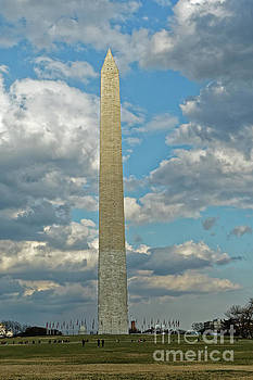Washington Monument Cloud Break by Natural Focal Point Photography