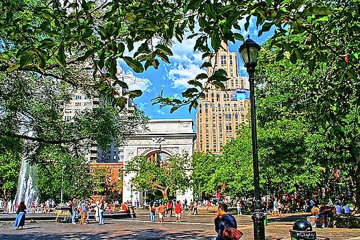 Washington Square, Manhattan, New York by Zal Latzkovich