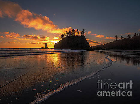 Washington State Photography Second Beach Sunset Tideflats by Mike Reid