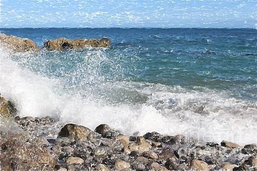 Water Crashing on Rocks by Katherine Erickson