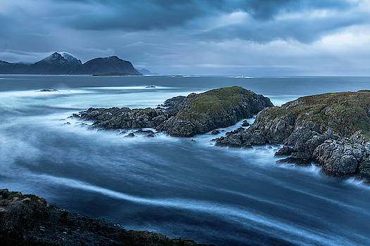 Water Flow At Stormy Sea by Kai Mueller