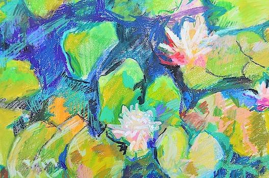 Water lilies abstraction by Aletha Kuschan