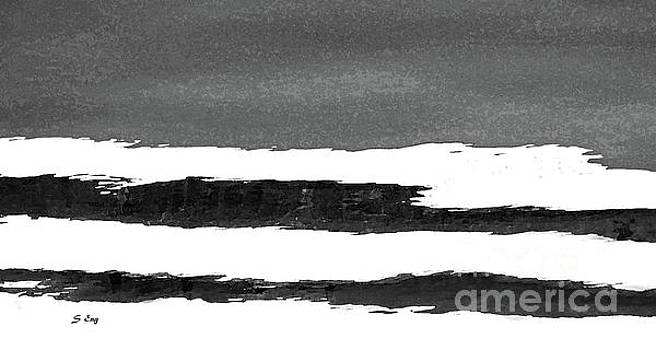 Sharon Williams Eng - Water Reflections Abstract Black and White 300