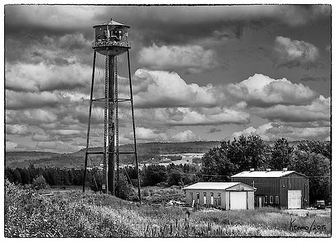 Water Tower in Hillsborough New Brunswick by Ken Morris