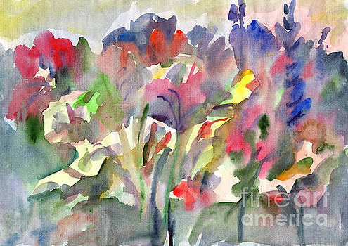 Watercolor abstract painting. Floral watercolor. Wildflowers. by Irina Dobrotsvet