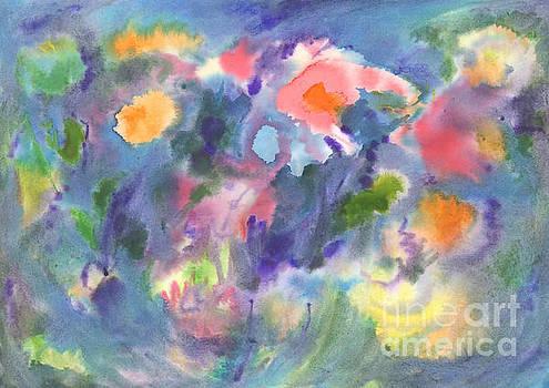 Watercolor abstraction, vivid flowers. Abstract painting. by Irina Dobrotsvet