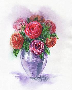 Irina Sztukowski - Watercolor Flowers Bouquet Natures Breath I