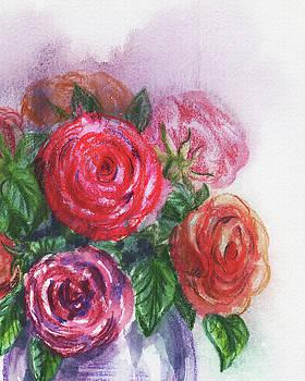 Irina Sztukowski - Watercolor Flowers Bouquet Natures Breath II