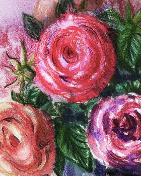 Irina Sztukowski - Watercolor Flowers Bouquet Natures Breath IV