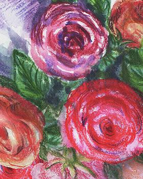 Irina Sztukowski - Watercolor Flowers Bouquet Natures Breath V