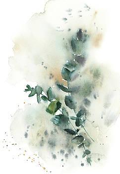 Watercolor Greenery Ii by Sophia Rodionov