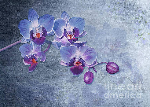 Watercolor Orchid Garden by J Marielle