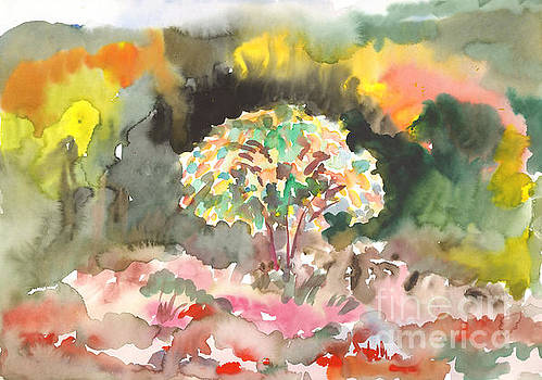 Watercolor painting. Colors of autumn by Irina Dobrotsvet