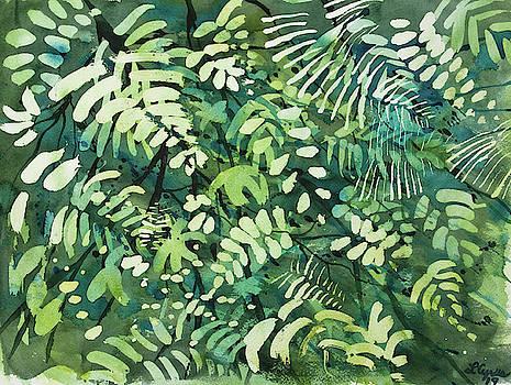 Watercolor - Rainforest Canopy Design by Cascade Colors