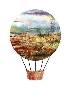 Watercolor Silhouette Hot Air Balloon IX by Irina Sztukowski