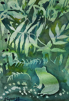 Watercolor - Tree Frog Design by Cascade Colors