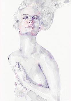 Dimitar Hristov - Watercolour portrait of a beautiful girl