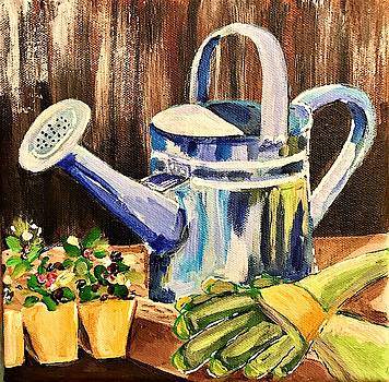 Watering Can by Roseann Amaranto